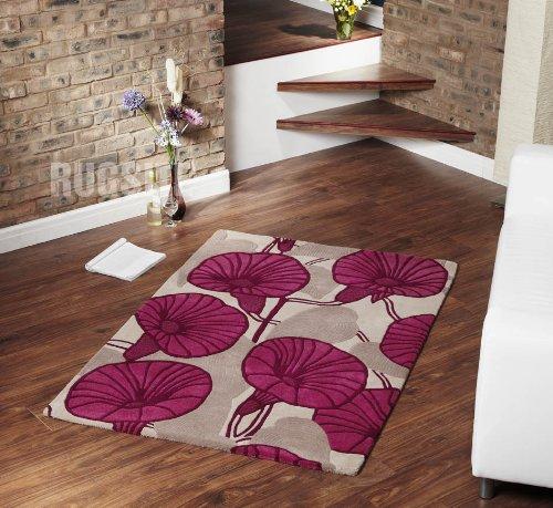 100% Wool Incas rug. 160x230cm Fuchsia