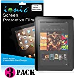 Ionic Screen Protector Film Clear (Invisible) for Amazon Kindle HD 8.9 Kindle Fire 2 Tablet (3-pack)