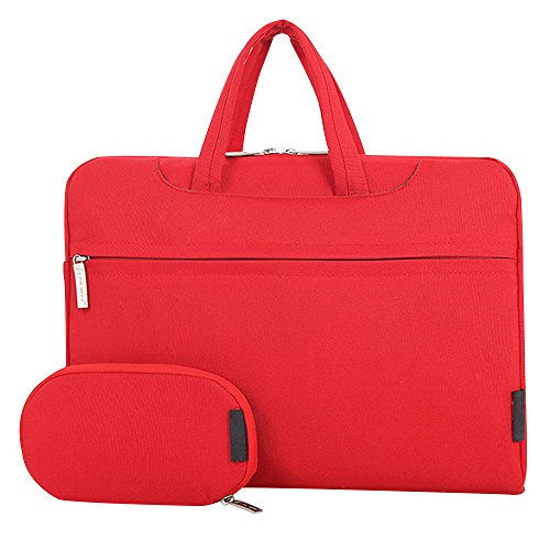 Cuitan 15 Inch Waterproof Nylon Laptop Computer Netbook Ultrabook Bag Sleeve Case Pouch Cover Briefcase Business Bag Notebook Messenger Shoulder Bag Handbag with Power Bag and Shoulder Strap - Red (Toshiba 39 Led compare prices)