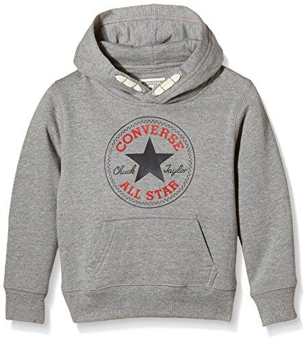 Converse Core Pullover, Felpa Bambino, Grigio (Vintage Grey Heather), X-Large (Taglia Produttore: 13-15Y)