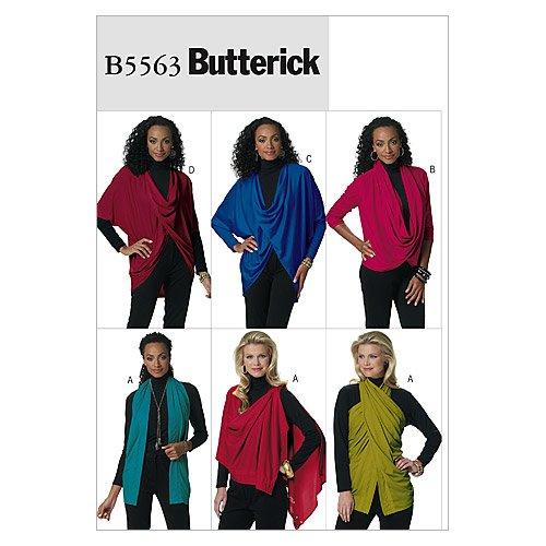 Butterick Patterns B5563 Misses' Top, Size ZZ (LRG-XLG-XXL)