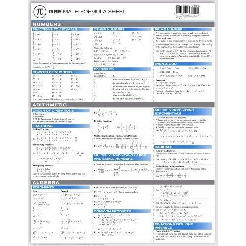 GRE Math Formula Sheet: Yi Hu: 9781615849161: Books - Amazon.ca