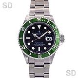 [ロレックス]ROLEX腕時計 サブマリーナー ブラック/グリーンベゼル Ref:16610LV メンズ [中古] [並行輸入品]