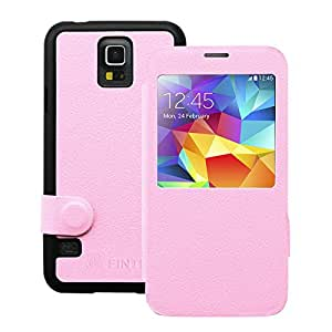 Fintie Samsung Galaxy S5 Slim Shell Case - Ultra Slim Light Weight Cover for Galaxy S5 / Galaxy SV / Galaxy S V (2014) - Pink