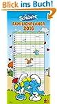 Die Schl�mpfe Familienkalender 2016