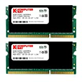 Komputerbay 16GB (2x 8GB) DDR3 PC3-12800 1600MHz SODIMM 204-Pin Laptop Memory 10-10-10-27 With Black Heatspreaders