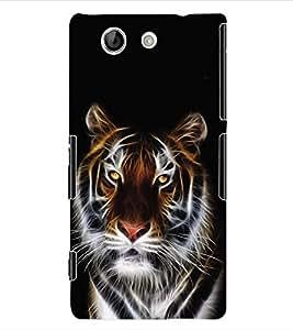 ColourCraft Tiger Back Case Cover for SONY XPERIA Z4 MINI