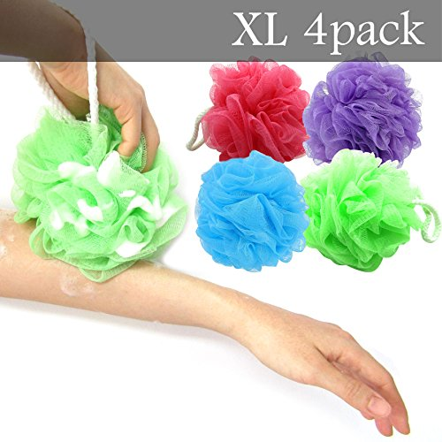 xl-bath-pouf-large-mesh-shower-sponge-set-of-4-pack-70gr-exfoliating-cleanse-soothe-skin-loofah-luff