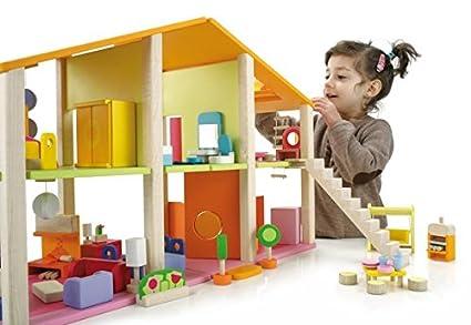 Nueva casa de mu ecas moderna con 6 habitaciones abiertas - Dormitorios infantiles unisex ...