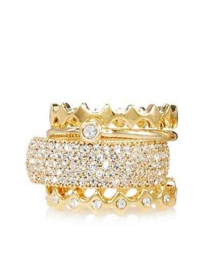Beyond Rings Pavé Set of 4 Stack Rings As You See