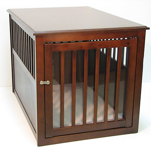 New Deluxe Indoor Wood End Table Pet Dog Crate Kennel