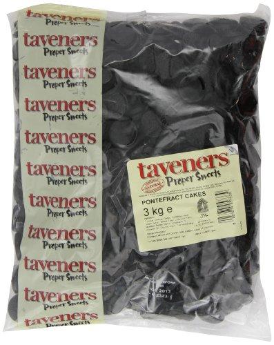 Taveners Pontefract Cakes 3 Kg (Pack of 1)