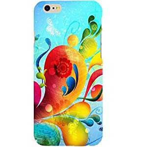 Casotec Multicolored Pattern Design Hard Back Case Cover for Apple iPhone 6 / 6S