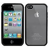 Samrick Soft Trim Ultra High Clear Anti-Scratch Back Hard Cover TPU Hybrid Bumper Case for Apple iPhone 4 & iPhone 4S - Black