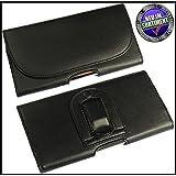 Gürteltasche mit Gürtel Clip und Schlaufe in schwarz/ black PU Leder Handytasche Seitentasche für Samsung i9300 S3 Seitentasche Quertasche