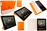 Flash Superstore New Ipad 3 & Apple Ipad 2 Bundle Pack Of Compatible Orange Smart Cover & Transparent Orange Smart Gel Case (All versions Wi-Fi and Wi-Fi + 3G/4G - 16GB 32GB 64GB)
