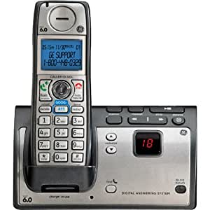 GE DECT 6.0 Advanced Silver Cordless Phone with Goog-411, CID, ITAD, and 1 Handset (28223EE1)