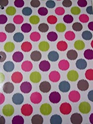 Bonnie Marcus College Ruled Spiral Notebook Multicolored Dots (8 X 10.5; 80 Sheets, 160 Pages)