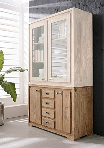 Sheesham massiv Holz Möbel geölt Sideboard Palisander massiv Möbel Massivholz braun Nature Brown #8258 günstig online kaufen