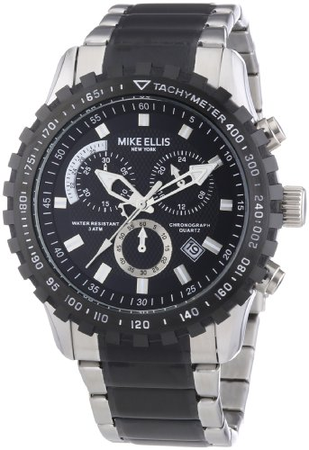 Mike Ellis New York Herren-Armbanduhr XL Chronograph Quarz Edelstahl 17987/2