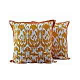 Monil Yellow Ethnic Cotton Cushion Cover- Set Of 2