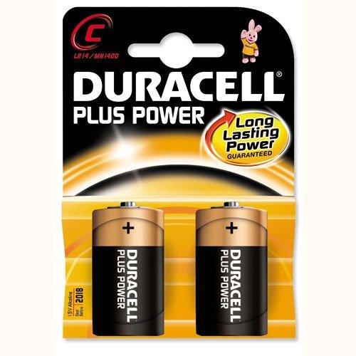 DURACELL Lot de 10 Piles Plus Power MN1400 / C / LR14 blister de 2