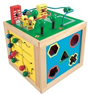 Bino 84185 - Cubo de aprendizaje 5 en 1 [importado de Alemania] de Mertens - BebeHogar.com