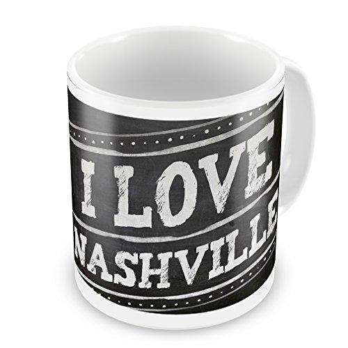 Coffee Mug Chalkboard With I Love Nashville - Neonblond