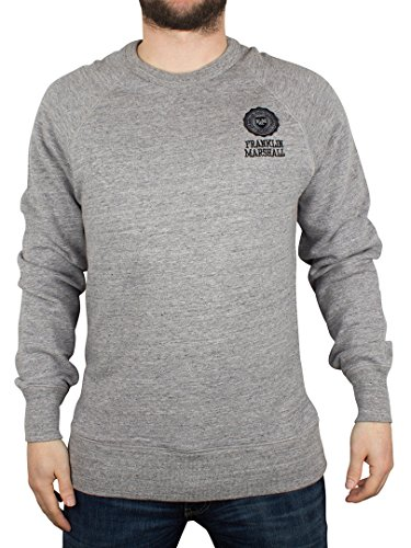 Franklin & Marshall Uomo Left Chest Logo Felpa, Grigio, X-Large