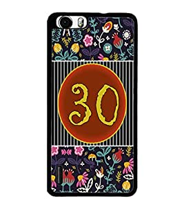 PrintDhaba Numerology Number 30 D-3119 Back Case Cover for HUAWEI HONOR 6 PLUS (Multi-Coloured)