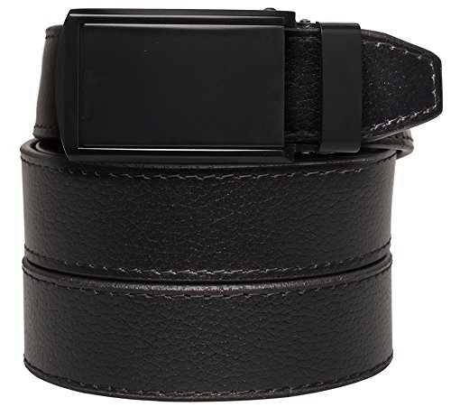 slidebelts-mens-leather-belt-without-holes-matte-black-buckle-black-leather-trim-to-fit-up-to-44-wai
