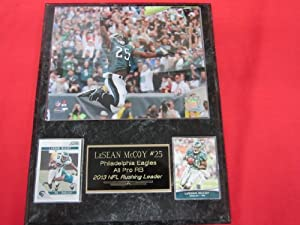 LeSean McCoy Philadelphia Eagles 2013 Rushing Leader 2 Card Collector Plaque w 8x10... by J & C Baseball Clubhouse