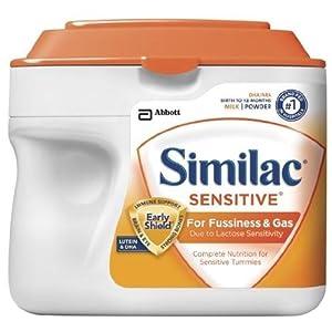 Similac Sensitive, Powder, 23.3-Ounces (Pack of 6) (Packaging May Vary)