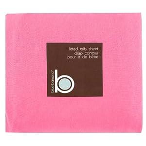 Blue Banana Jersey Knit Fitted Crib Sheet, Ballet Pink