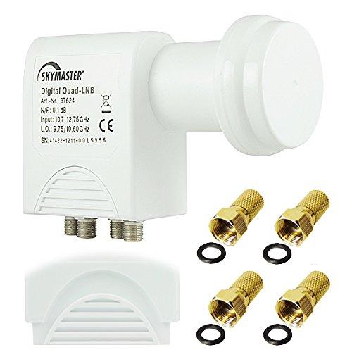 50  Stück 30 cm Sat Kabel F-Stecker in weiß für Satelit LNB Receiver