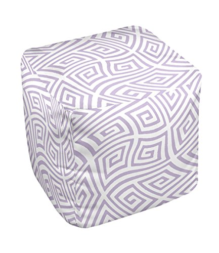 E by design FG-N9C-Lilac_Purple-18 Geometric Pouf