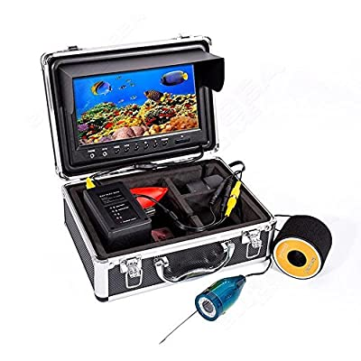 "Blueskysea Eyoyo 9"" Color LCD HD 1000TVL Waterproof 50m Cable 4000mah Rechargeable Battery Fish Finder Underwater Fishing Video Camera with LED Adjustable&Monitor Remote Control from China OEM"