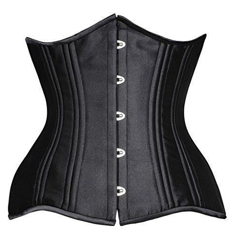 23a8d3f6c84 Camellias 24 Double Steel-Boned Longline Heavy Duty Waist Training Corset  Shaper