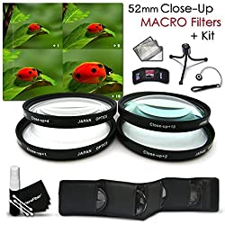 High Resolution 52mm Close-Up MACRO Filter Set + Accessory Kit for Nikon D500, D7200, D7100, D750, D5500, D5300, D5200, D5100, D3300, D3200, D7000, D3100, D810, D800, D610, D600, 1 V1, D4, D4S, D3, D3X, D3S DSLR Cameras - Inc
