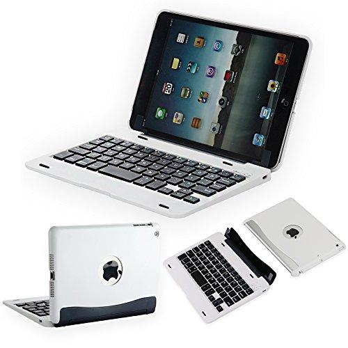 efluky ipad 専用Bluetoothキーボード ipad mini1/2/3 分離式 ワイアレスキーボードケース オートスリープ機能付ipad mini 1/2/3対応 (ホワイト)