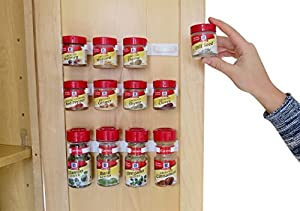Evelots Spice Gripper Clip Strips, Kitchen, Multi-Use, Holds 12 Spices, Set Of 3