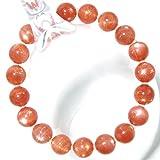 *タンザニア産 超希少SA級天然石6月誕生石ムーンストーン(アプリコットムーンストーン)(ピンクがかっているオレンジムーンストーン)10~10.4mm珠パワーストーン.ブレスレット(女性LL.男性L.size)