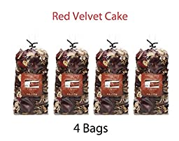 Hosley Candle Company Red Velvet Cake Potpourri - Set of 4 bags / 4 oz each