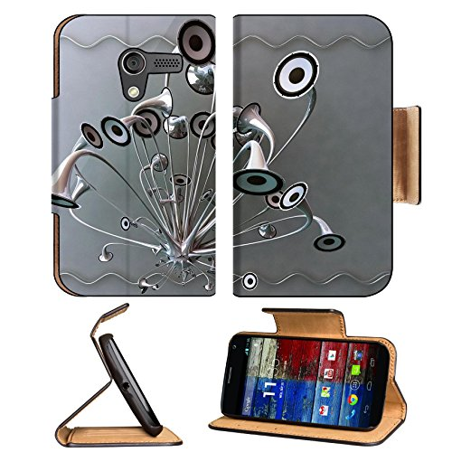 Variety Silver Metallic Speaker Design Motorola Moto X Flip Case Stand Magnetic Cover Open Ports Customized Made To Order Support Ready Premium Deluxe Pu Leather 5 7/16 Inch (138Mm) X 3 1/16 Inch (78Mm) X 9/16 Inch (14Mm) Luxlady Mobility Cover Profession
