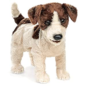 Folkmanis Jack Russell Terrier Hand Puppet, Smooth Coat from Folkmanis Puppets