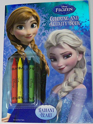Disney Frozen Foil Cover Coloring and Activity Book with 4 Jumbo Crayons ~ Radiant Heart (2014)