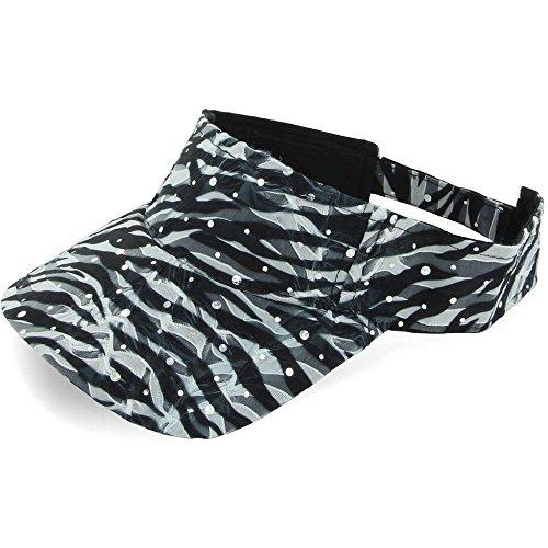 Zebra_Baseball Sun Visor Cap Glitter Sequin Womans Ladies Summer Hat (US Seller) (Kd Light Blue Socks compare prices)