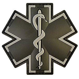 ACU Black EMS EMT Medic Paramédical Paramedic Star of Life Morale Tactical PVC 3D Velcro Écusson Patch