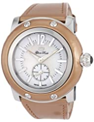 Glam Rock Women's GRD10012PZ Miami Mother-Of-Pearl and White Dial Light Bronze Patent Leather Watch