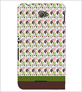 PrintDhaba Fish Pattern D-1847 Back Case Cover for SONY XPERIA E4 (Multi-Coloured)